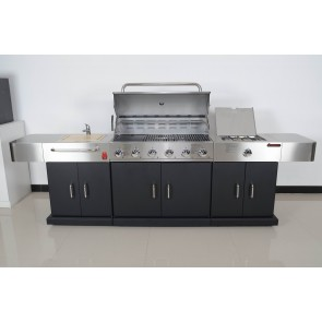 Bosston 6 Burner Outdoor Entertainment Kitchen