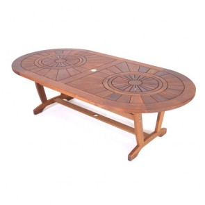 Montego Double Lazy Susan Oval Table