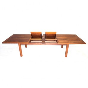Barbados Twin Extension Table with Block Legs