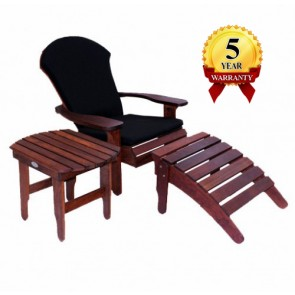 Adirondak Lawn Chair & Footstool