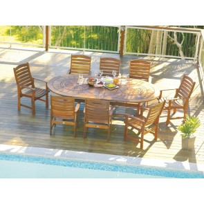 Barbados Oval Twin Extension Table Dining Package