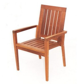 Riviera Stacking Arm Chair