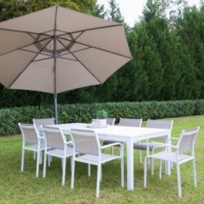 Shelta Lina/River 7 or 9 Piece Armed Dining Setting